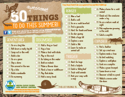 50 awesome things to do this summer graphic