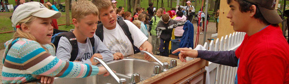 Children learn about water at the water festival