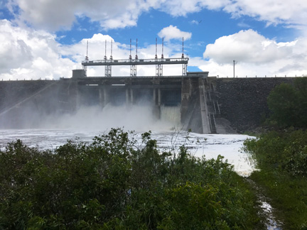 Shand Dam at 60 cubic metres per second