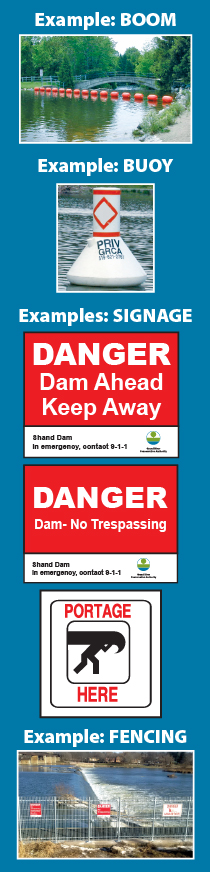 GRCA dams - public safety measures examples
