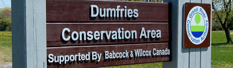 Dumries Conservation Area sign