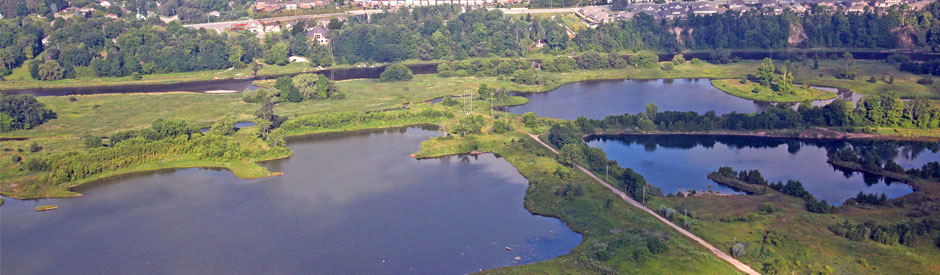 Aerial view of Snyder's Flats